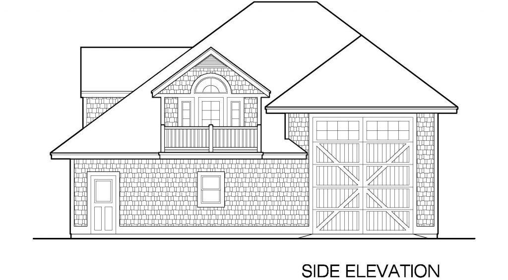 001 - 39' RV Garage - 04 - Side Elevation