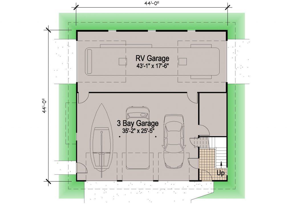001 - 39' RV Garage - REV - 01 - Ground Floor