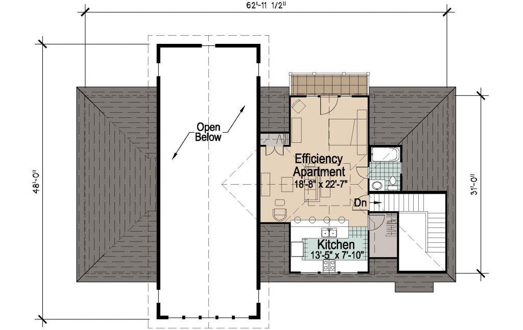 001 - 45' RV Garage - REV - 02 - Second Floor