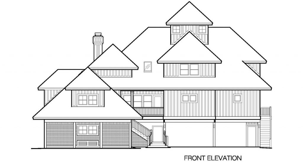 001 - Grand Peaks-3848-Pile-4Car-Elevator - 4 - Front Elevation