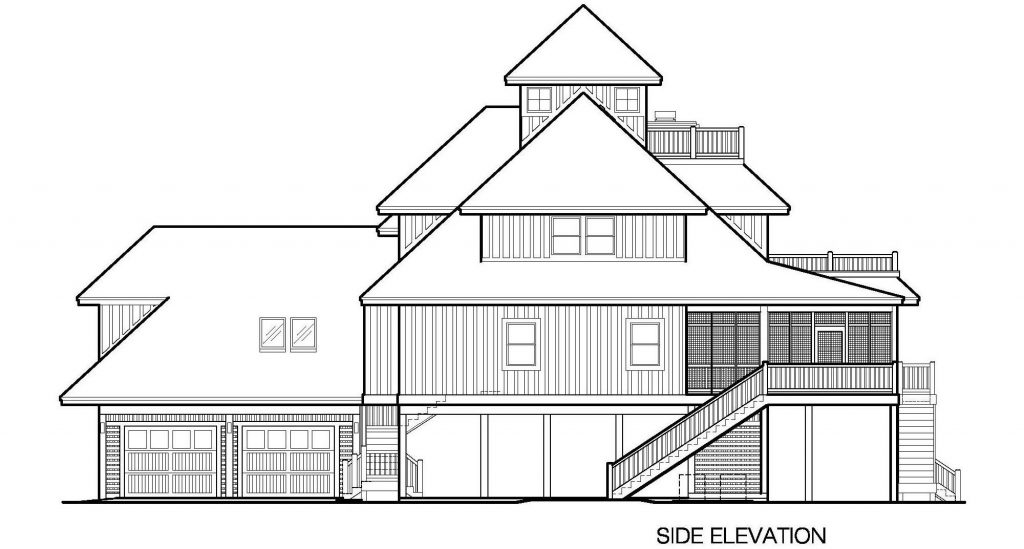 001 - Grand Peaks-3848-Pile-4Car-Elevator - 5 - Side Elevation
