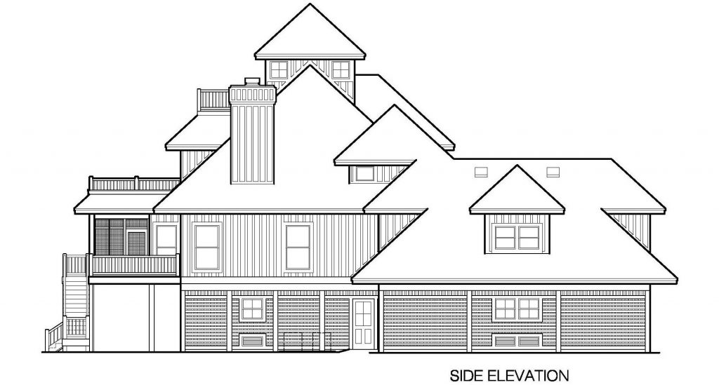 001 - Grand Peaks-3848-Pile-4Car-Elevator - 7 - Side Elevation