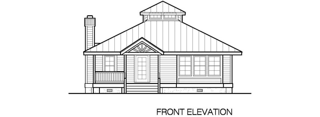 001 - Hip-1260-2Bdrm-Porches - 2 - Front Elevation