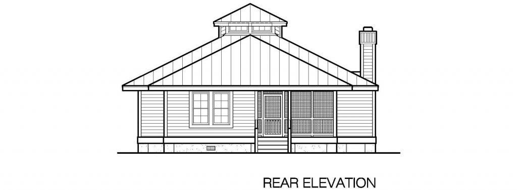 001 - Hip-1260-2Bdrm-Porches - 4 - Rear Elevation