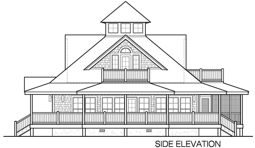 001 - Island-2058-Crlspace - 4 - Side Elevation
