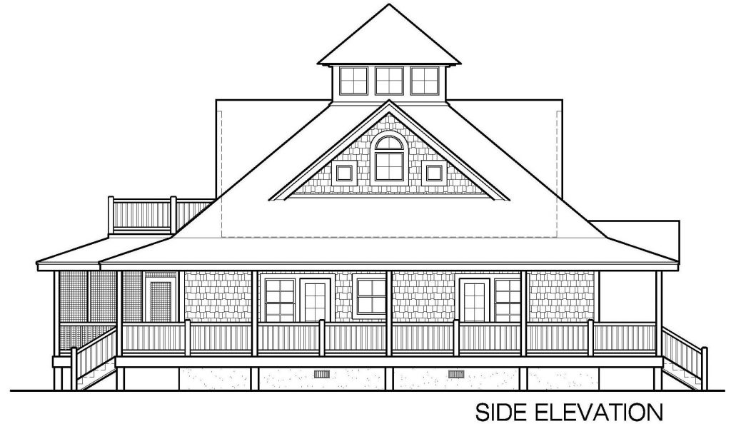001 - Island-2058-Crlspace - 6 - Side Elevation