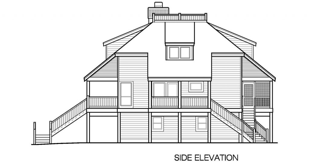001 - Lookout Std - 6 - Side Elevation