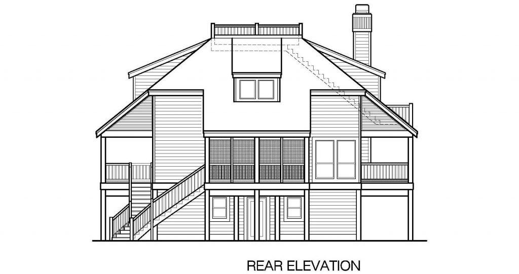 001 - Lookout Std - 7 - Rear Elevation