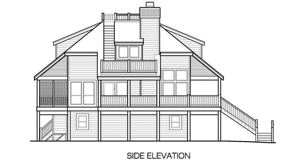 001 - Lookout Std - 8 - Side Elevation