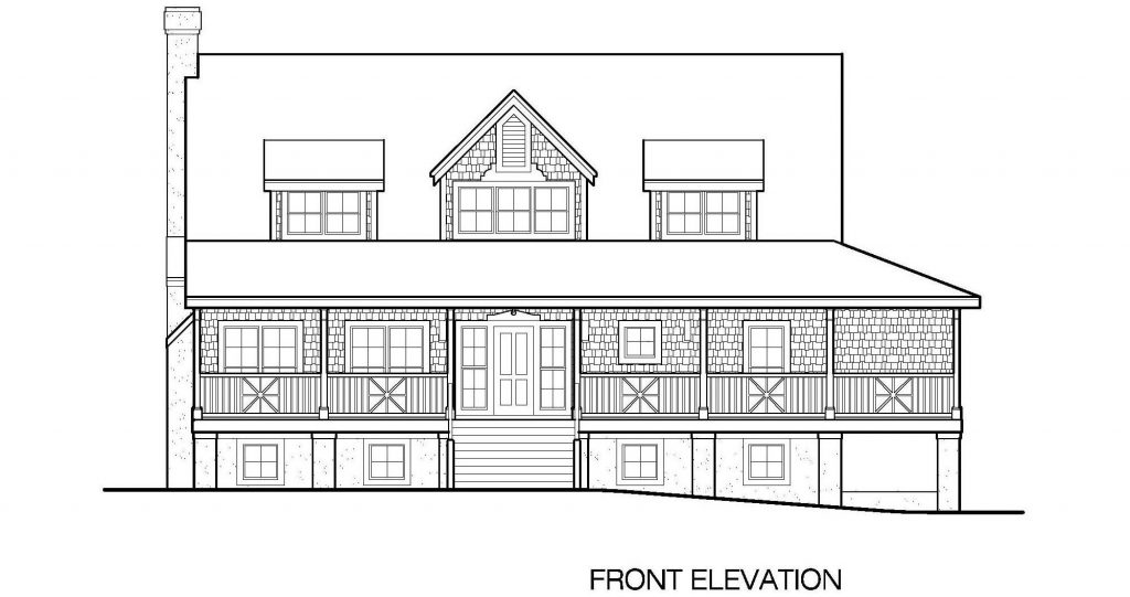 001 - Plantation Std - 4 - Front Elevation