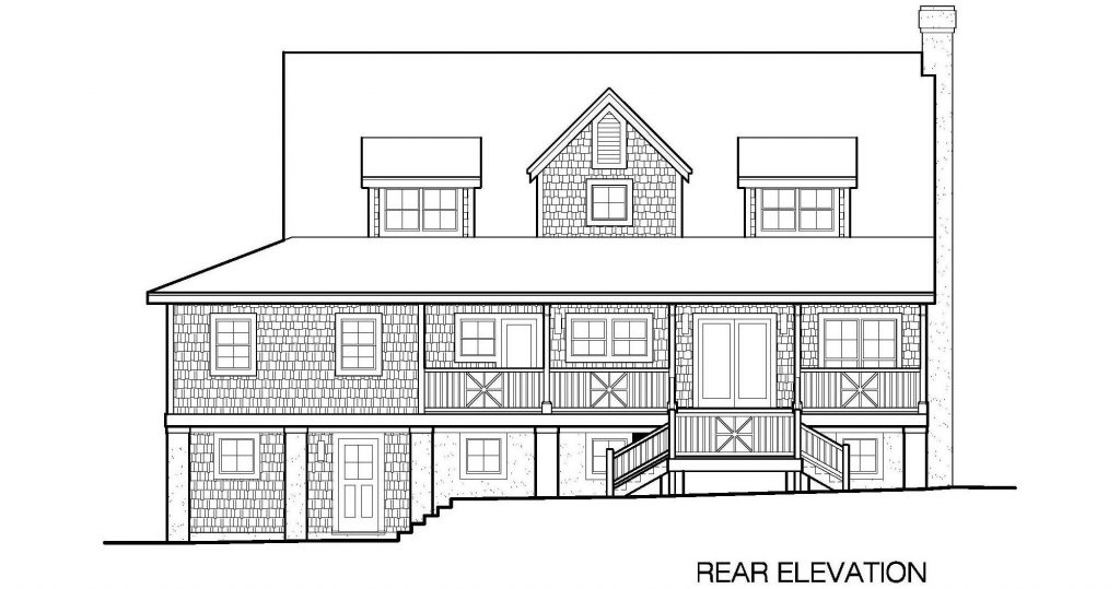 001 - Plantation Std - 6 - Rear Elevation