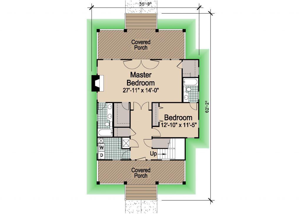001 - Porches-Crlspace-3Bdrm - 1 - First Floor