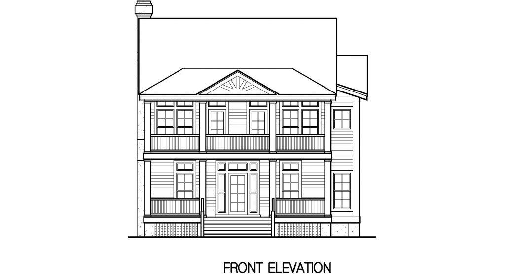 001 - Porches-Crlspace-3Bdrm - 3 - Front Elevation
