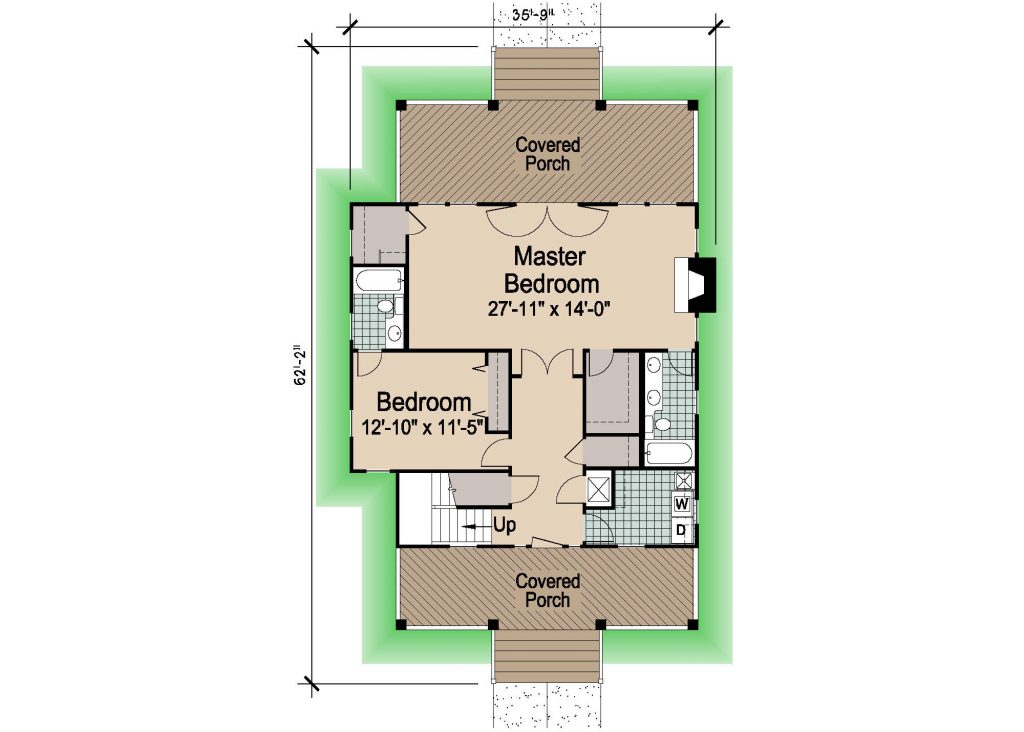 001 - Porches-Crlspace-3Bdrm - REV - 1 - First Floor