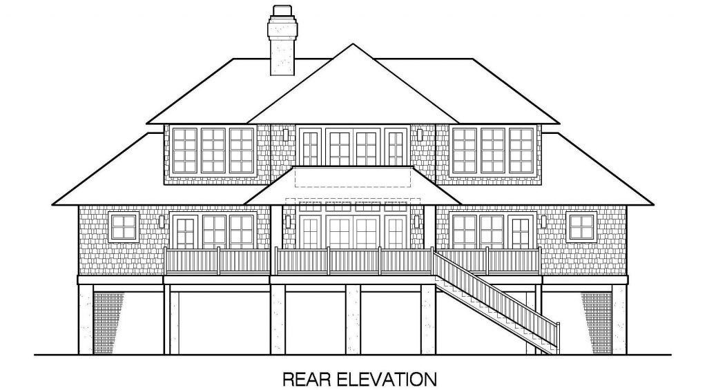 001 - Shelter-2117-Side Ent Gar - 6 - Rear Elevation