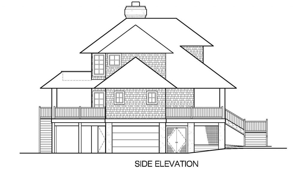 001 - Shelter-2117-Side Ent Gar - 7 - Side Elevation