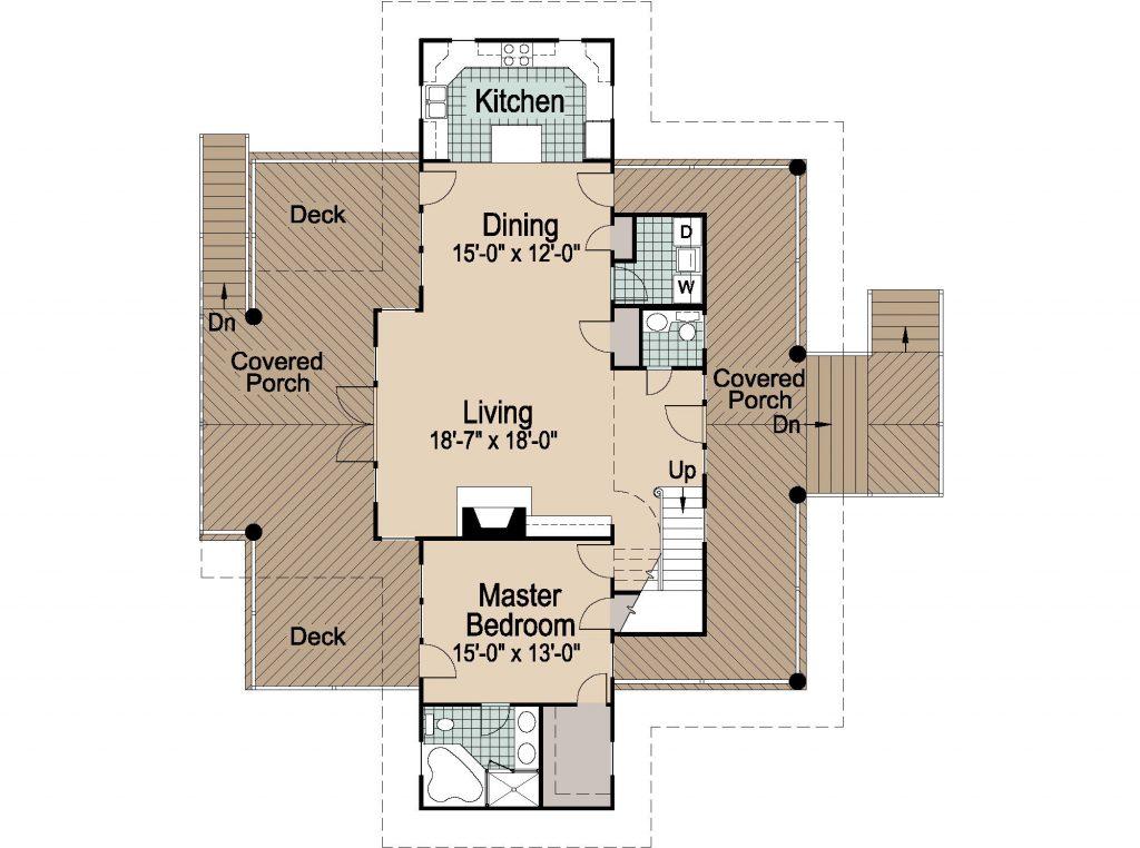 001 - Shelter-2117-Side Ent Gar - REV - 2 - First Floor