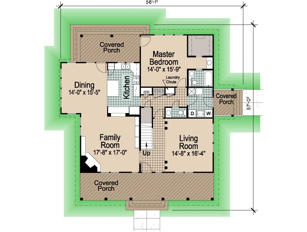 001 - Shingle Std - 1 - First Floor