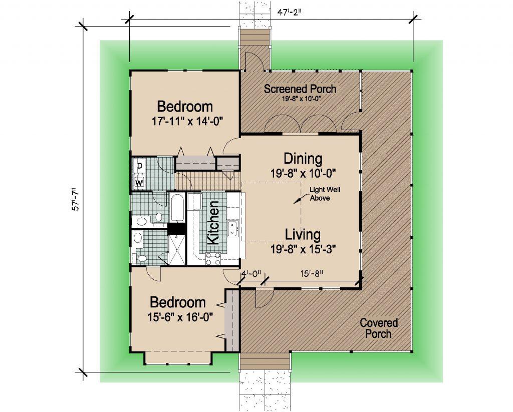 002 - Hip-1423-2Bdrm-WAP - REV - 1 - Floor Plan
