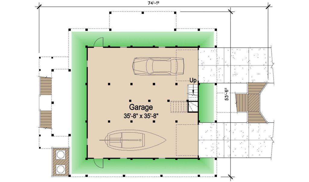 002 - Island-2058-Pile-Frt-Ent - 1 - Ground Floor