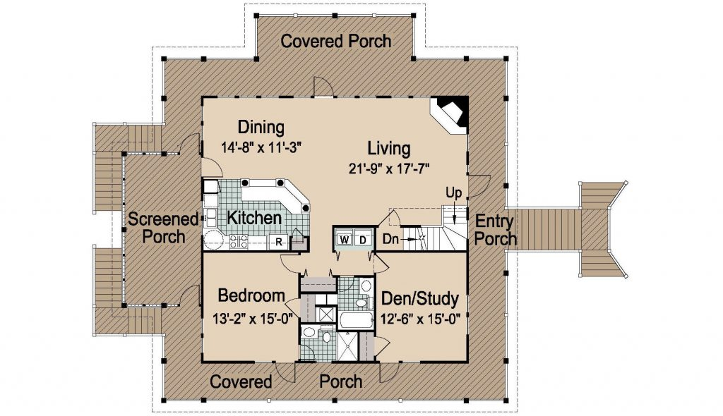 002 - Island-2058-Pile-Frt-Ent - 2 - First Floor