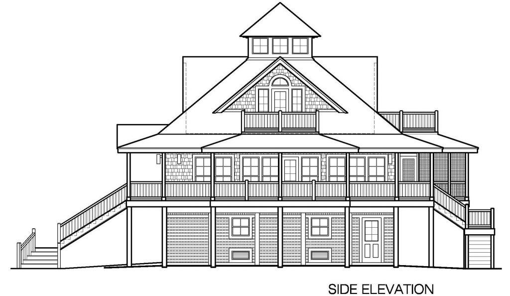 002 - Island-2058-Pile-Frt-Ent - 5 - Side Elevation