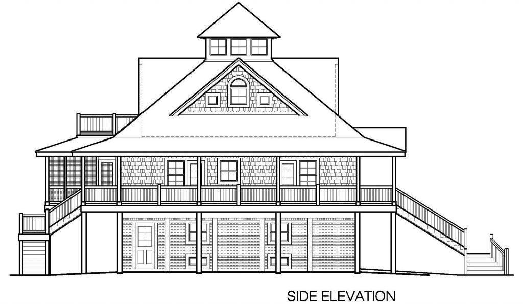 002 - Island-2058-Pile-Frt-Ent - 7 - Side Elevation