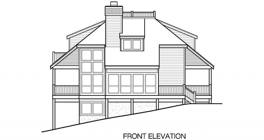 002 - Lookout-Basement-Garage - 5 - Front Elevation