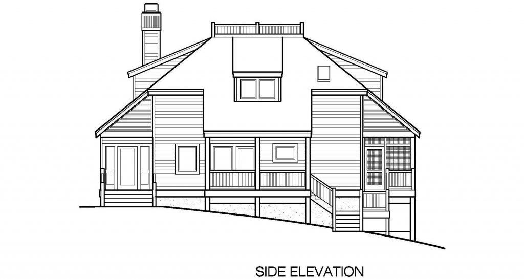 002 - Lookout-Basement-Garage - 6 - Side Elevation