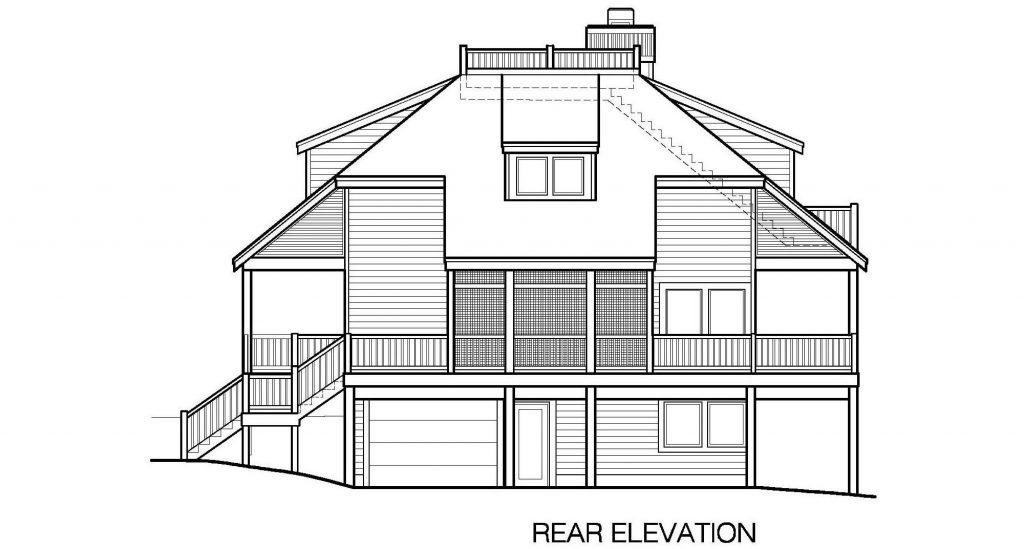 002 - Lookout-Basement-Garage - 7 - Rear Elevation