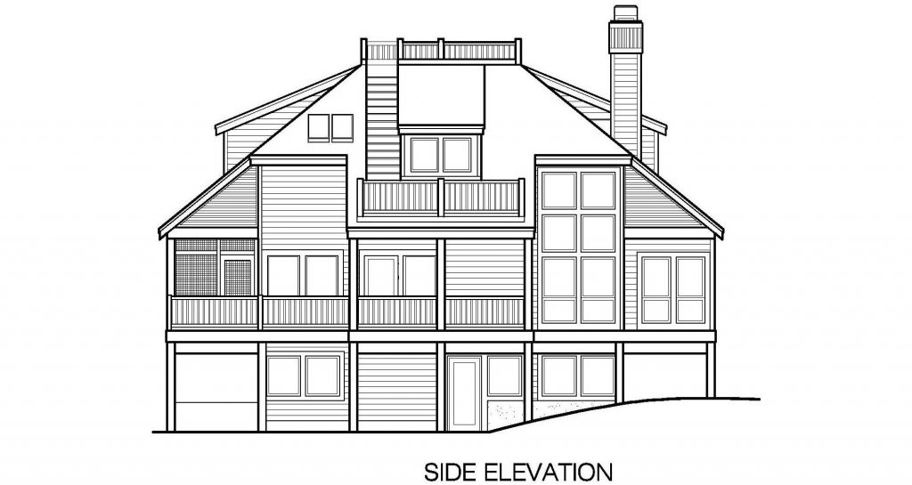 002 - Lookout-Basement-Garage - 8 - Side Elevation