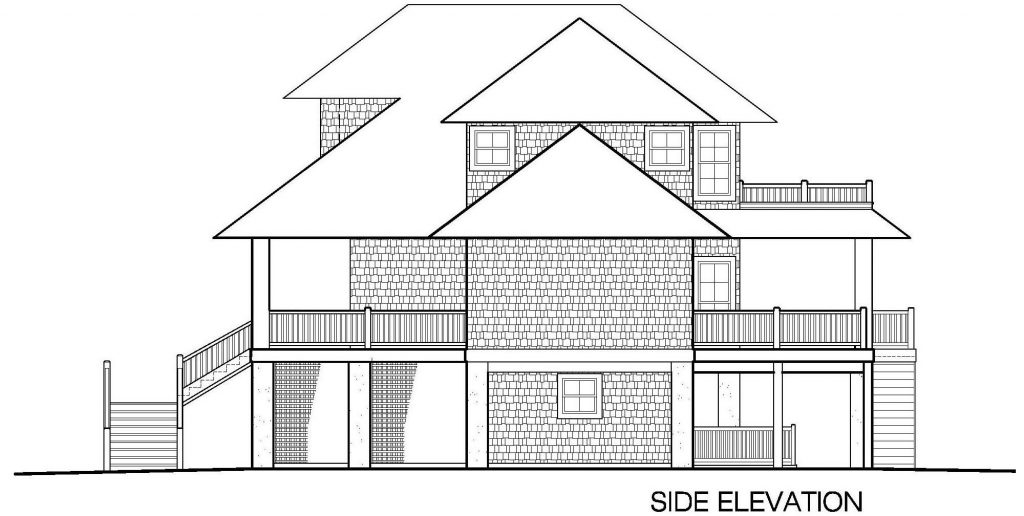 002 - Shelter-2466-Side Ent Gar-Elevator - 5 - Side Elevation