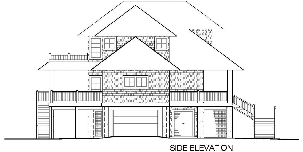 002 - Shelter-2466-Side Ent Gar-Elevator - 7 - Side Elevation