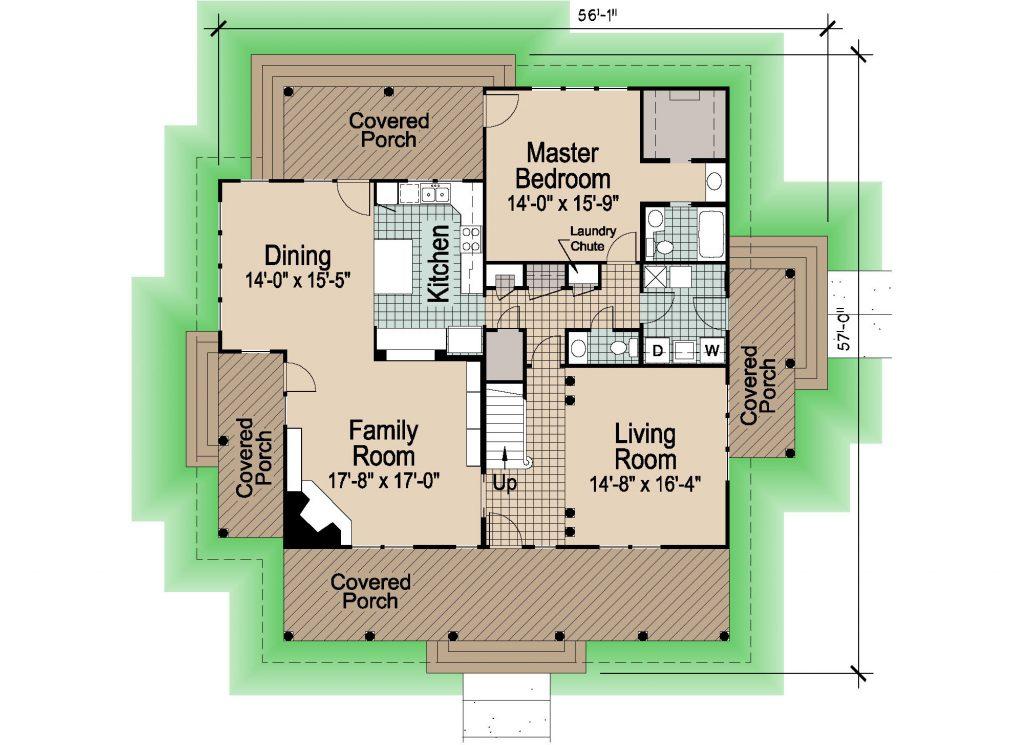 002 - Shingle Balcony - 1 - First Floor