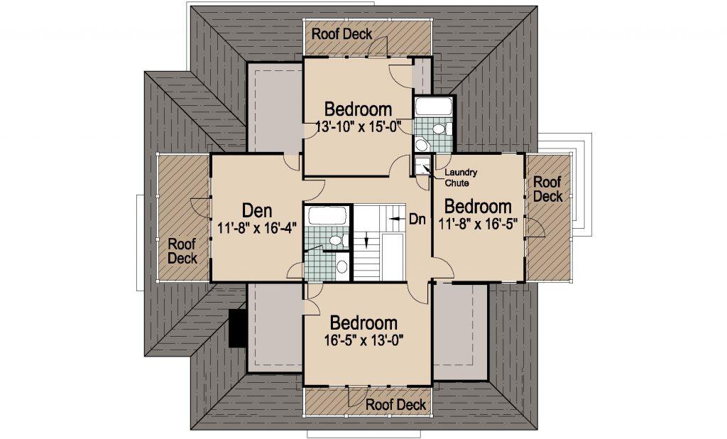 002 - Shingle Balcony - 2 - Second Floor