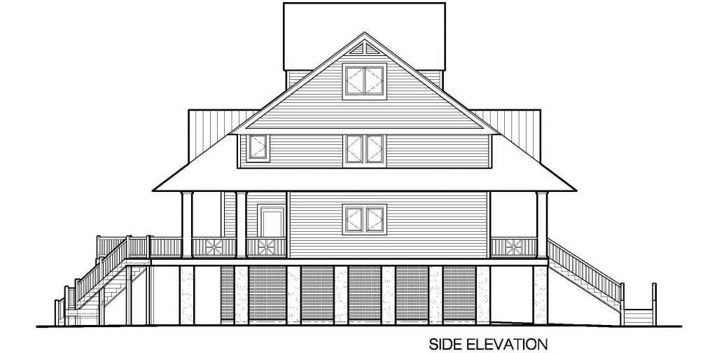 Winds Cottage with Gable Roof Dormers, 3143 SF - Southern