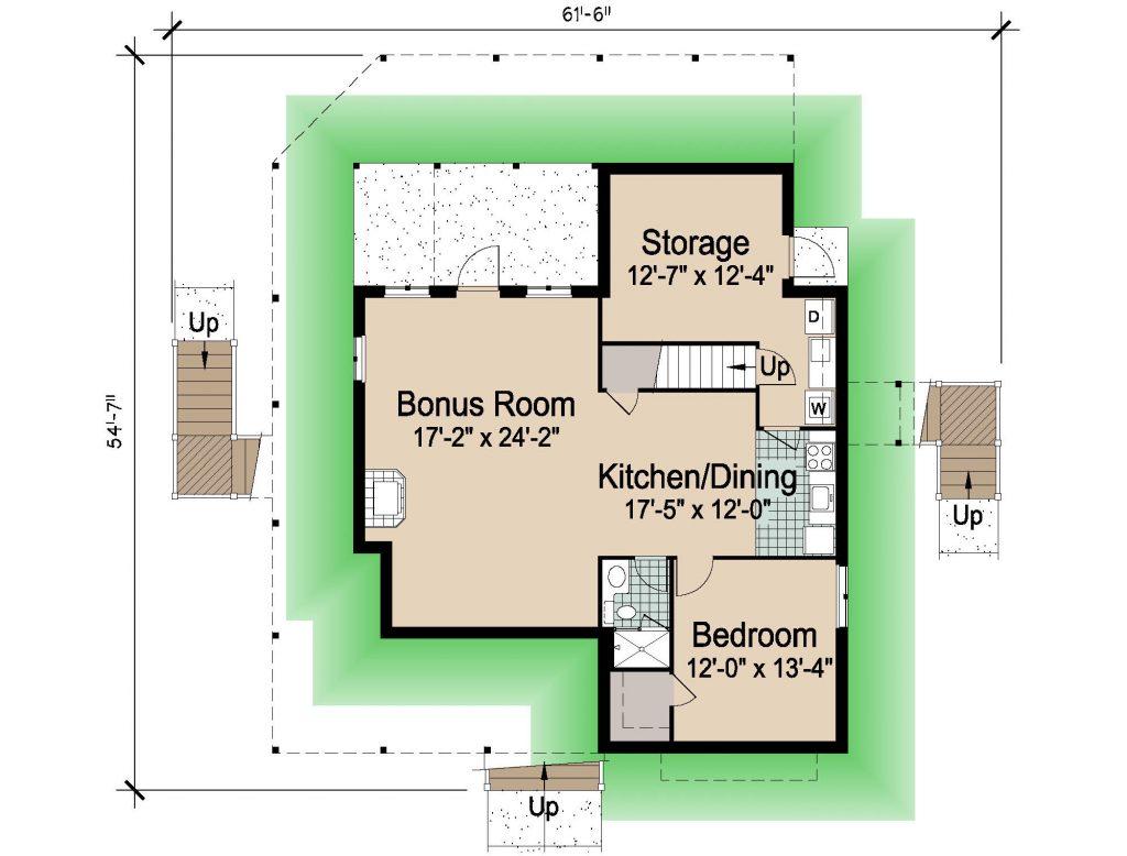 004 - Hip-2497-4Bdrm-Bsmt - REV - 1 - Ground Floor