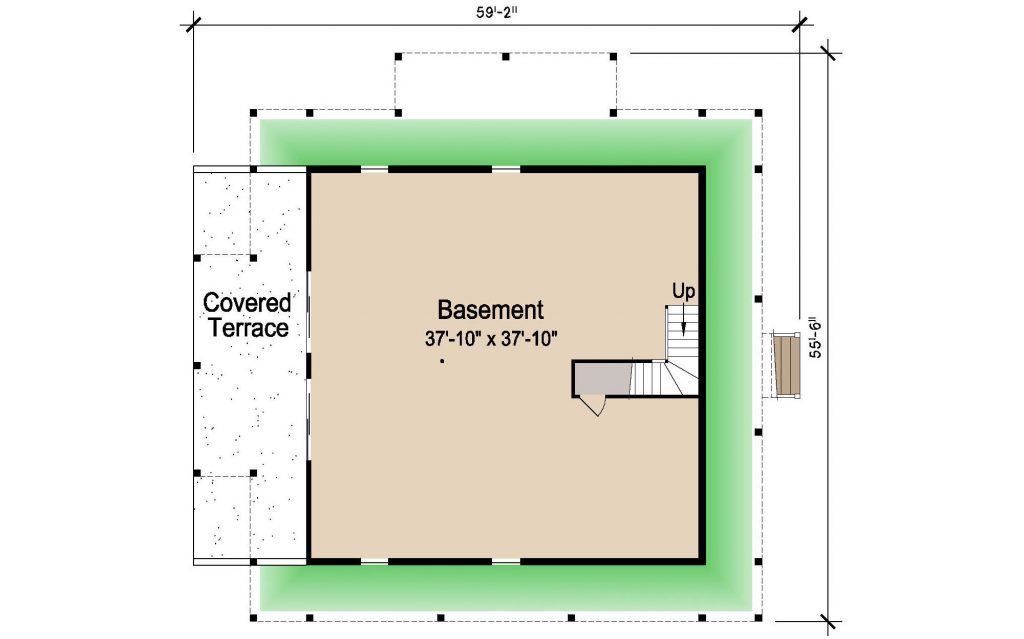 Home plans with observation loft joy studio design for Island basement house plans