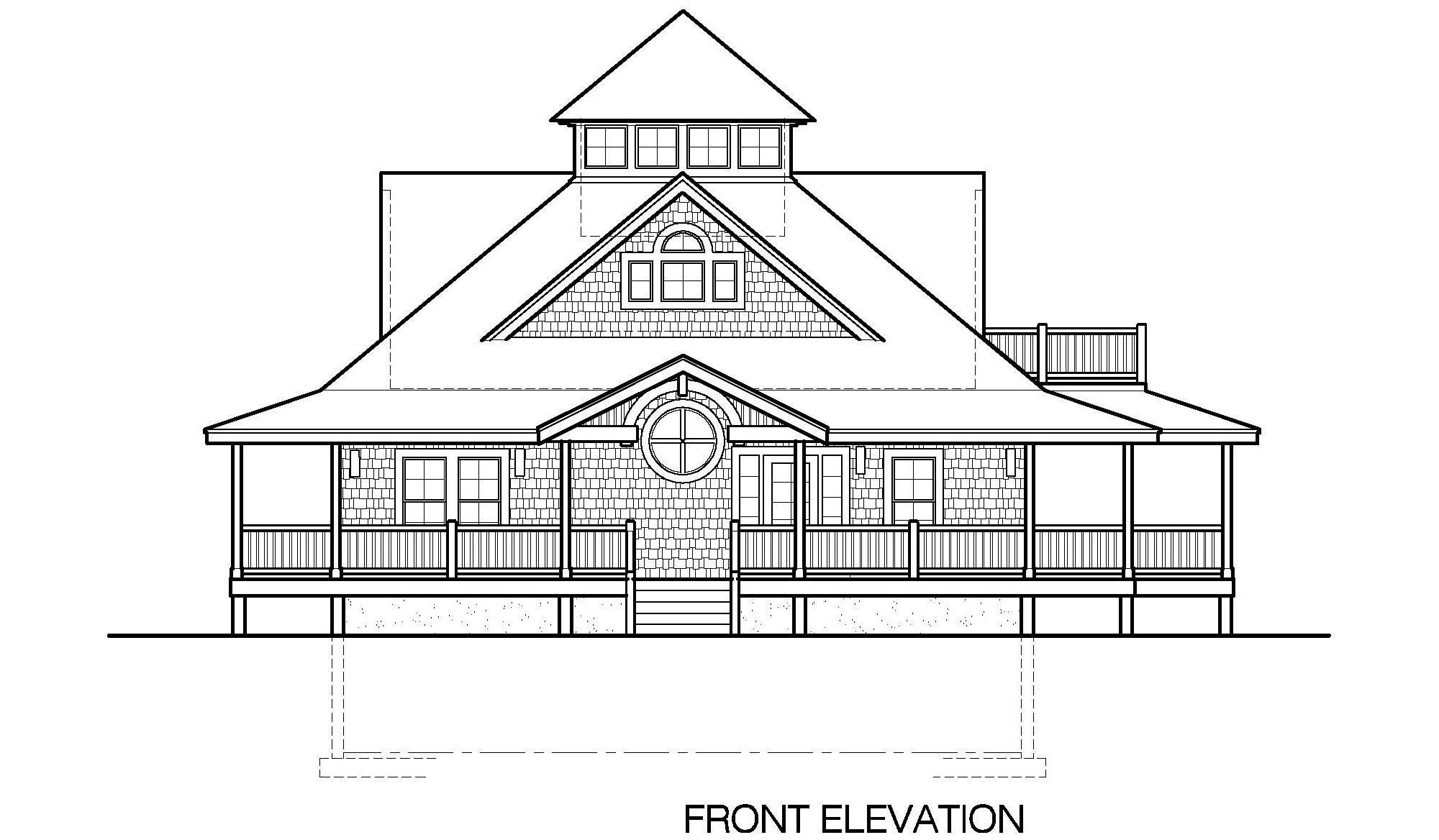 Unique front elevations options joy studio design for Island basement house plans