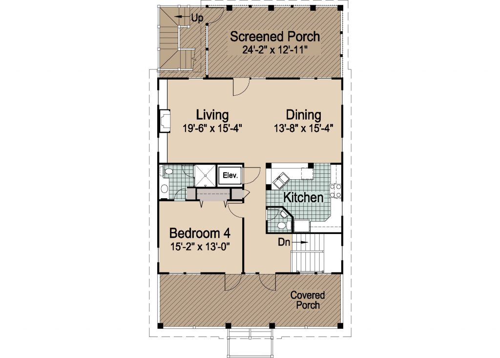 Reverse floor plan best free home design idea for Reverse living beach house plans