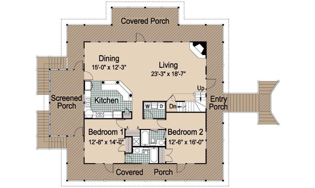 006 - Island-2470-Pile-Frt-Ent - 2 - First Floor