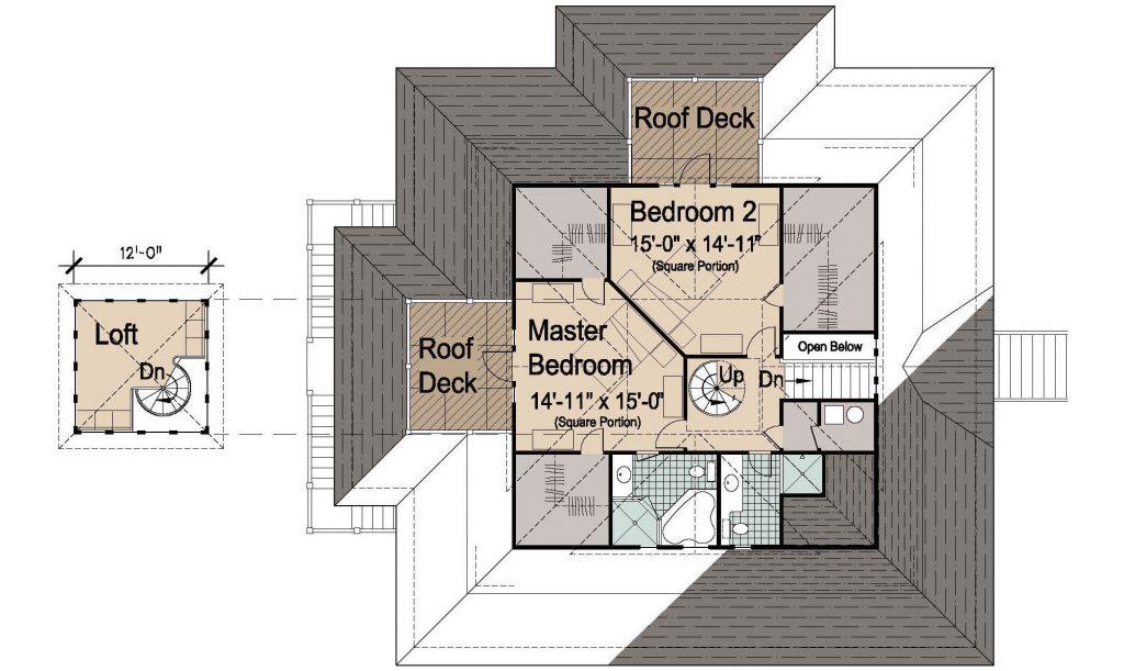 006 - Island-2470-Pile-Frt-Ent - 3 - Second Floor