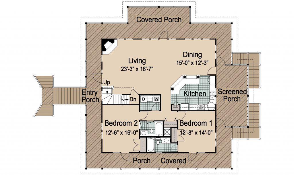 006 - Island-2470-Pile-Frt-Ent - REV - 2 - First Floor
