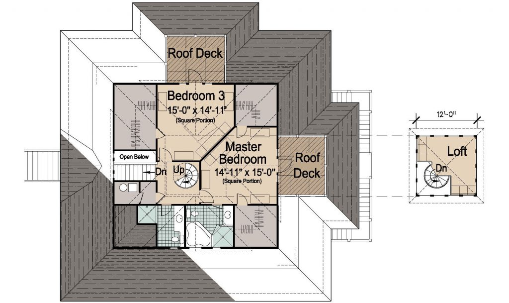 006 - Island-2470-Pile-Frt-Ent - REV - 3 - Second Floor