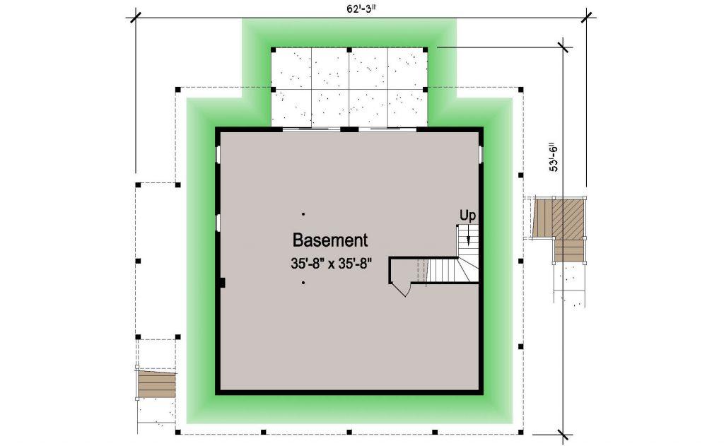 007 - Island-2058-Basement - 1 - Ground Floor