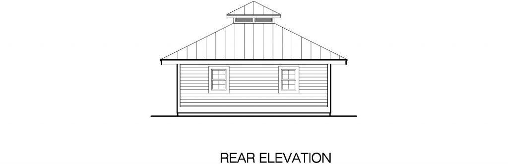 01 - Hip Garage - 4 - rear elevation