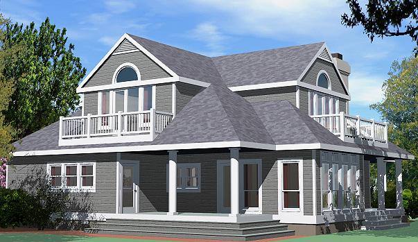 Shingle Cottage Balcony Option Rear Right