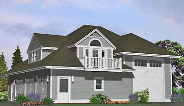 Shingle RV Garage - 39\' Motor Home - Southern Cottages