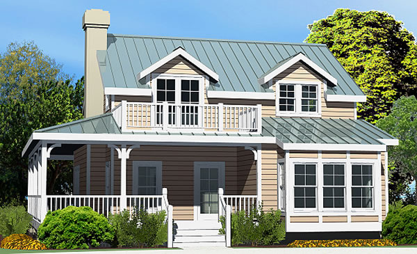 Country cottage crawlspace foundation 1933 sf for Beach house plans with wrap around porches