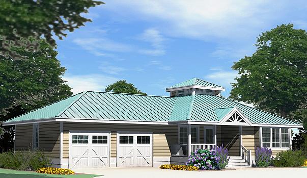 Hip Cottage Attached Garage Front Left